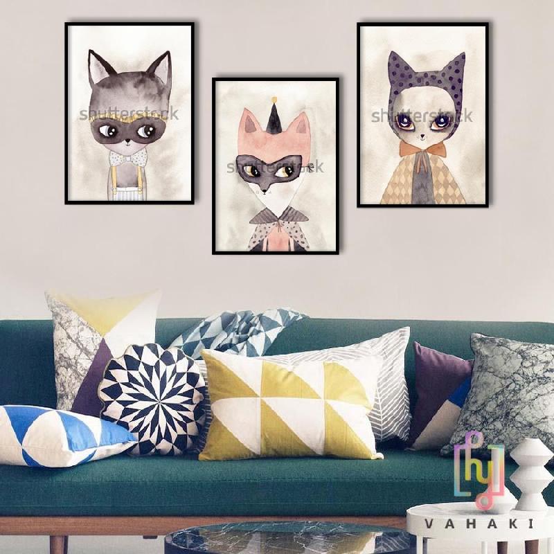 Bộ 3 tranh cats