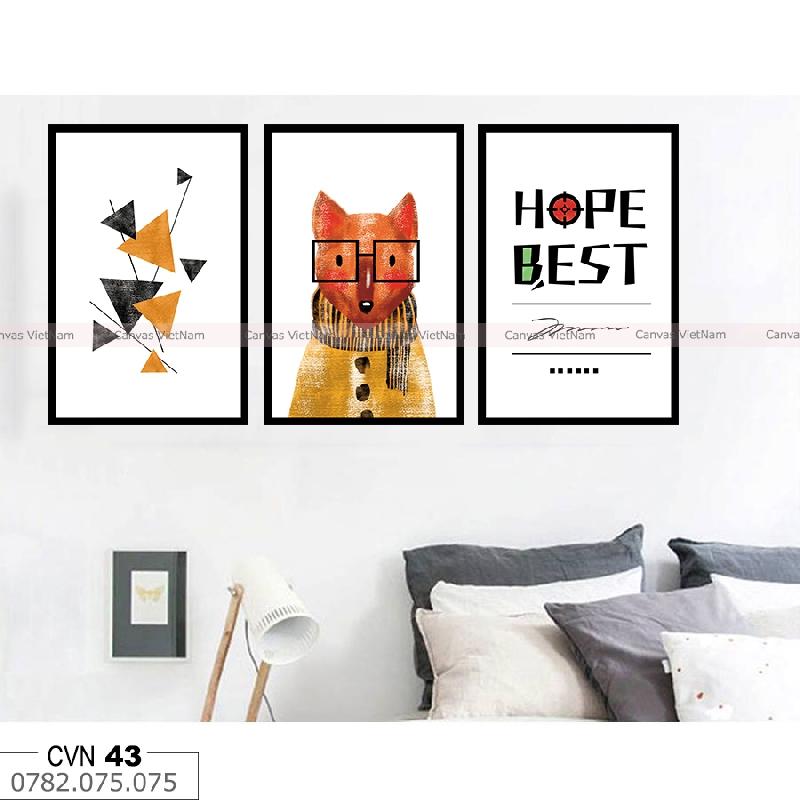BỘ 3 tranh decor hope best